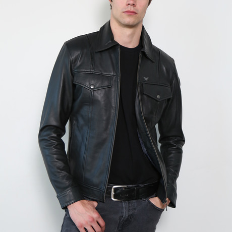 Future Trunks Limited Edition Leather Jacket // Black (XS)