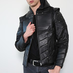 Green Arrow Limited Edition Leather Jacket // Black (L)