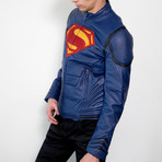 Superman Armor Leather Jacket // Blue (2XL)