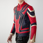 Iron Spider Limited Edition Leather Jacket // Red + Black + Gold (L)