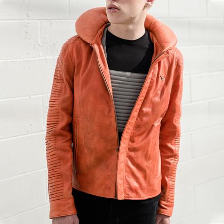 Skywalker Pilot Leather Jacket // Orange (S)