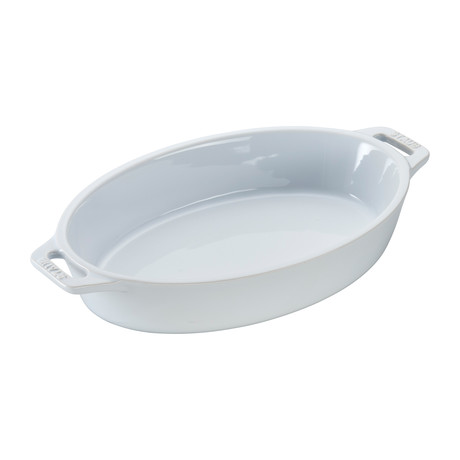 "Oval Baking Dish // White (9"" Dish)"