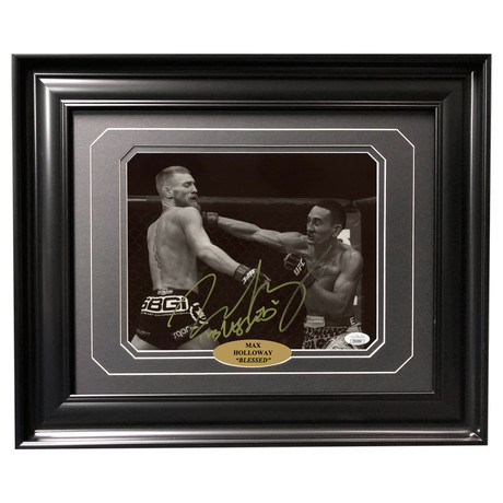 Max Holloway // Autographed + Framed Photo // Punch