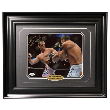 Rich Franklin // Autographed + Framed Photo