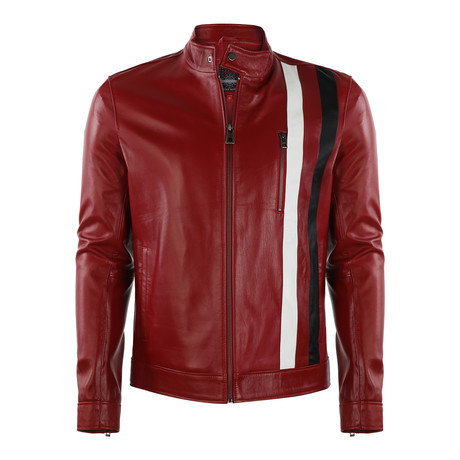 Tahoe Leather Jacket // Red (XS)
