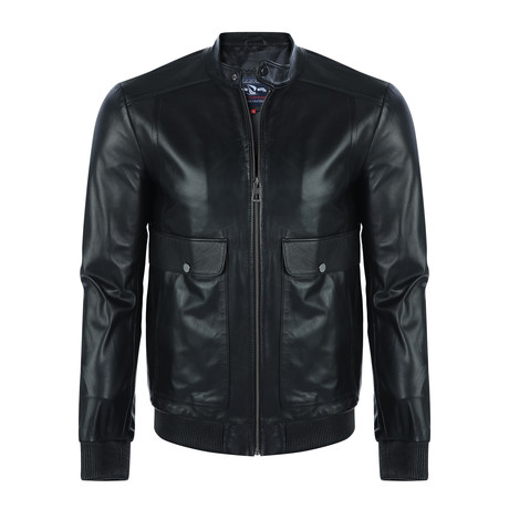 Molokai Leather Jacket // Black (XS)