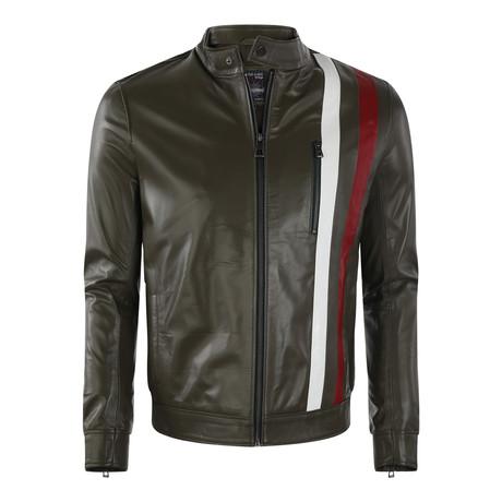 Canyon Leather Jacket // Khaki (XS)
