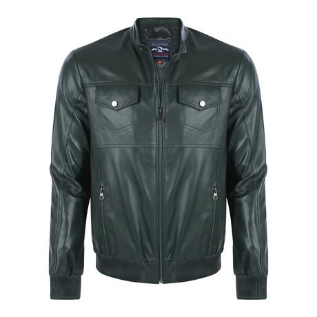 Sunset Leather Jacket // Green (XS)