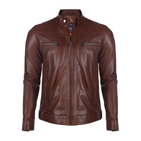 Bonanza Leather Jacket // Chestnut (XS)
