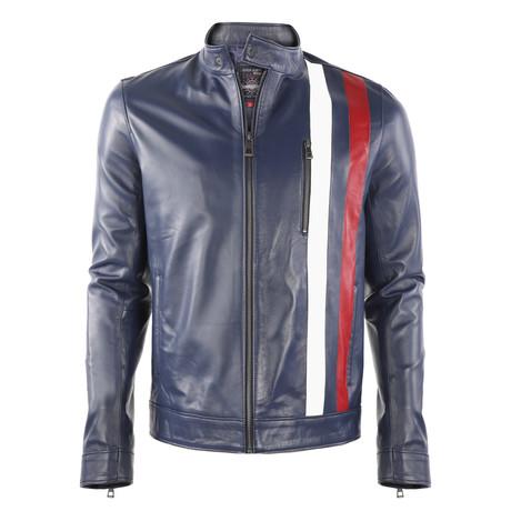 Yosemite Leather Jacket // Dark Blue (XS)