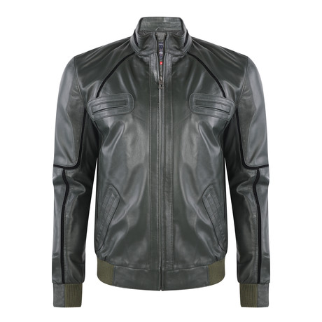 Agathla Leather Jacket // Green (XS)