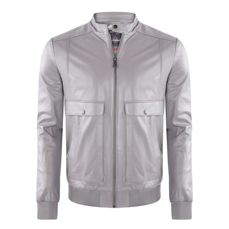 Catalina Leather Jacket // Gray (XS)
