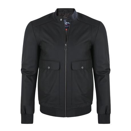Diamond Leather Jacket // Brown (XS)