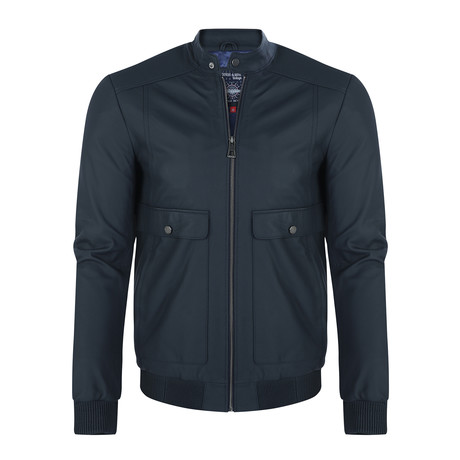 Mauna Kea Leather Jacket // Navy (XS)