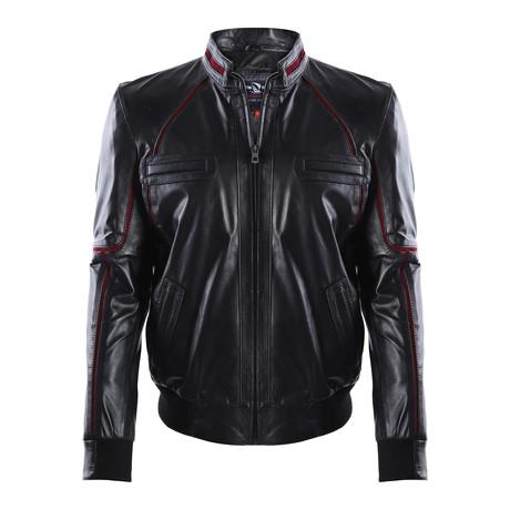 Granite Leather Jacket // Black (M)