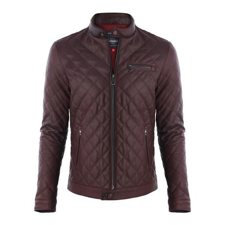 Picacho Leather Jacket // Bordeaux (XS)