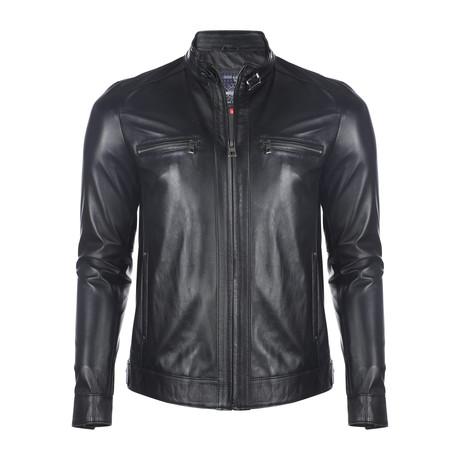Shuksan Leather Jacket // Black (2XL)