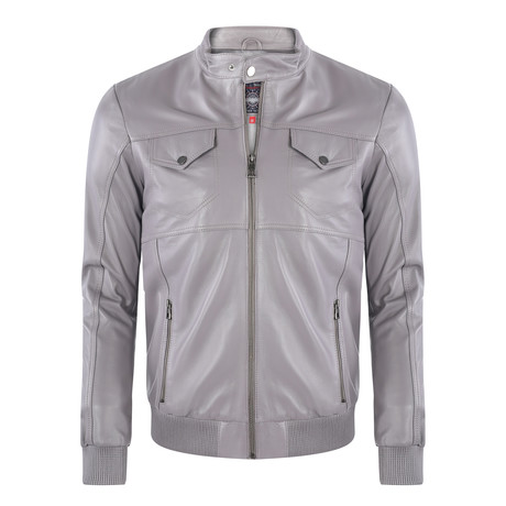 Lemmon Leather Jacket // Gray (XS)