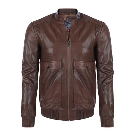 Kamakou Leather Jacket // Chestnut (XS)