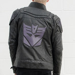 Transformers Decepticon Leather Jacket // Gray (S)
