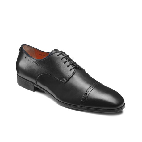 Gareth Cap Toe // Black (US: 7)