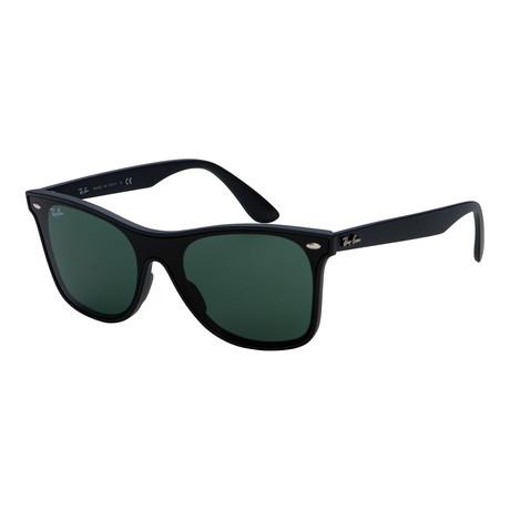Unisex RB4440N-601S71-41 Sunglasses // Matte Black + Green