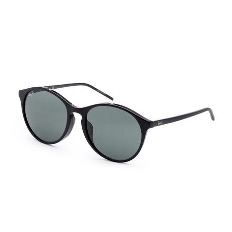 Women's RB4371F-901-7155 Sunglasses // Black + Green