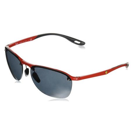 Men's RB4302M-F62387-62 Sunglasses // Red + Dark Gray
