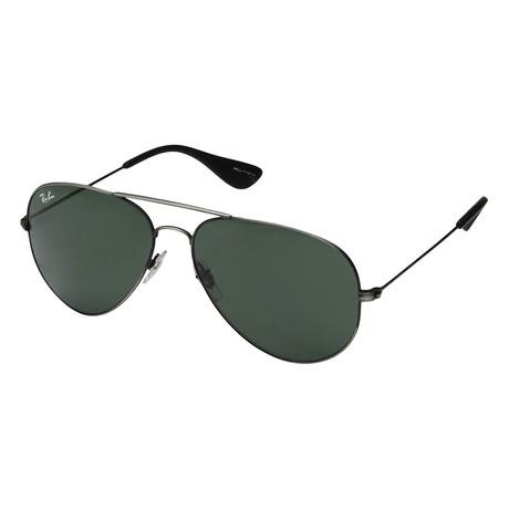 Unisex RB3558-913971-58 Sunglasses // Matte Black Antique + Dark Green