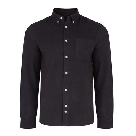 Ashcott Houndstooth Flannel Shirt // Navy (S)