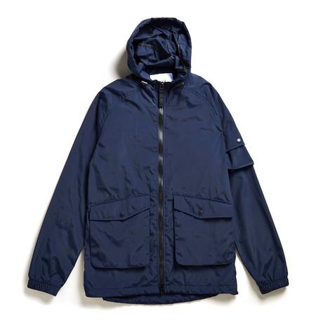 Voyage Hooded Kagoule Jacket // Navy (S)