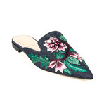 Flats // Denim + Pink + Green (Euro: 37.5)