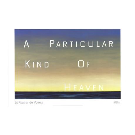 Edward Ruscha // A Particular Kind of Heaven // 2001 Offset Lithograph