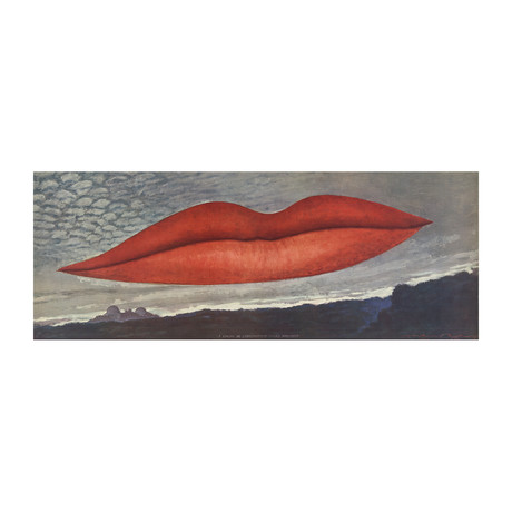 Man Ray // Lips (No Text) // 1966 Offset Lithograph