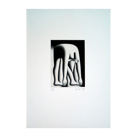 Mark Kostabi // Body By Jake, 1989 // 1990 Etching // SIGNED