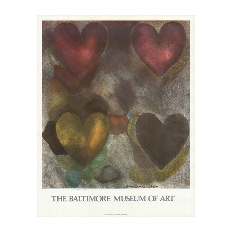 Jim Dine // Flo-Master Hearts // 1980 Offset Lithograph