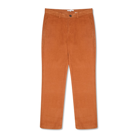 Ecosse Wide Leg Cord Trouser // Old Gold (28)