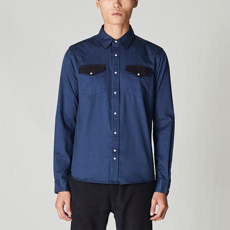 Ersatz Western Style Shirt // Navy (S)