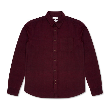 Suomi Brushed Flannel Shirt // Oxblood (S)