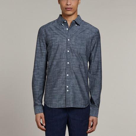 Marmont Long Sleeve Chambray Shirt // Navy (S)
