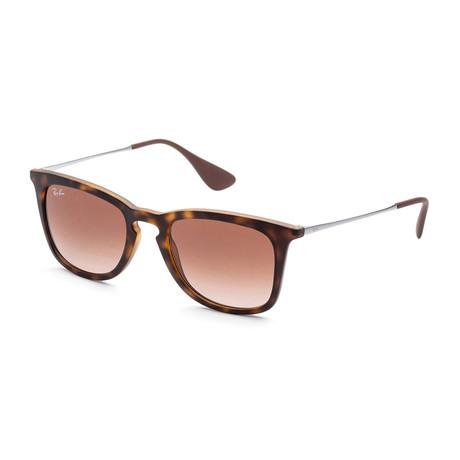 Unisex Gradient Sunglasses // Dark Rubber Havana + Brown Gradient