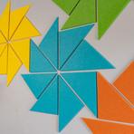 Felt Right Wall Art // Triangle Flower