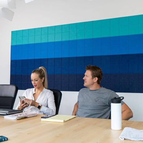 Felt Right Wall Art // Blue Ombre