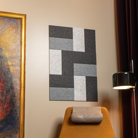 Felt Right Wall Art // Brickwork Grays