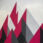 Felt Right Wall Art // Large Shaded Mountain Raspberry