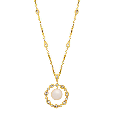 Assael 18k Yellow Gold Pearl Necklace III