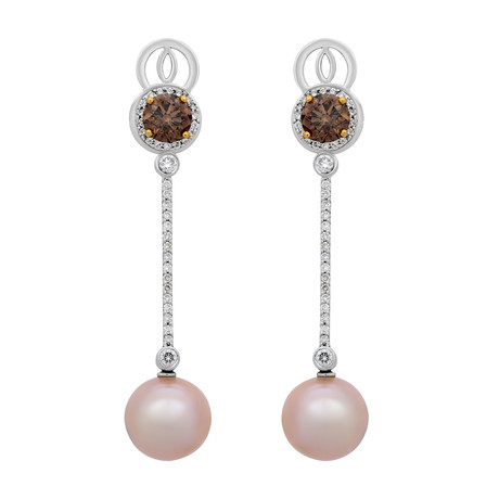 Assael 18k White Gold + Yellow Gold Pearl Earrings