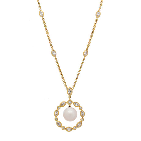 Assael 18k Yellow Gold Pearl Necklace V