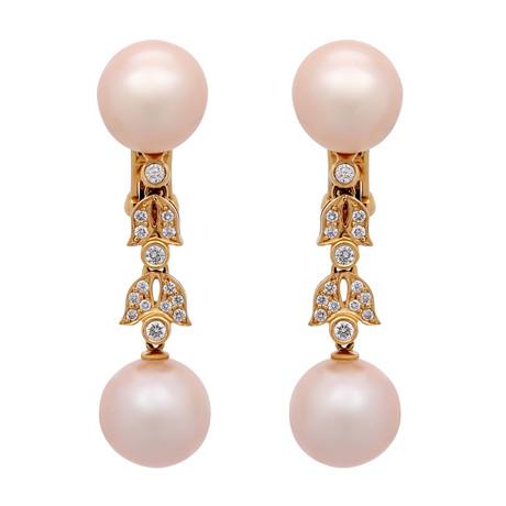 Assael 18k Yellow Gold Pearl Earrings IV
