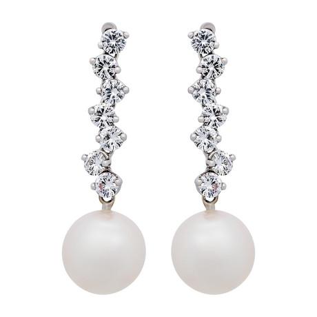 Assael 18k White Gold Pearl Earrings II